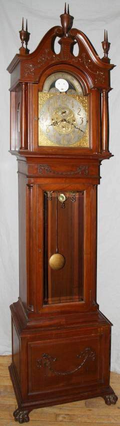 122157 ELLIOT OF LONDON MAHOGANY GRANDFATHER CLOCK
