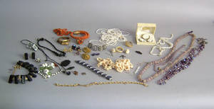 Group of costume jewelry Provenance Shoemaker Estate
