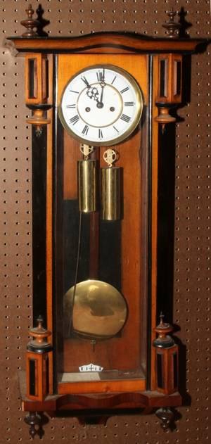 102199 VIENNA MAPLE  LACQUER REGULATOR WALL CLOCK