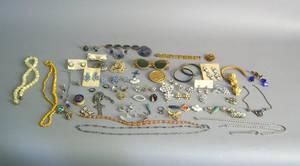 Large group of costume jewelry Provenance Shoemaker Estate