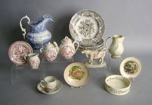 Early English pottery and porcelain to include ironstone