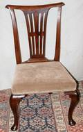 120143 WALNUT QUEEN ANNE STYLE SIDE CHAIR 19TH C