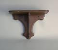 Mahogany clock shelf