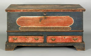 Pennsylvania painted dower chest late 18th c