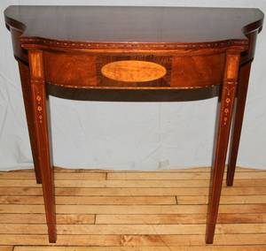111291 GEORGE III STYLE MAHOGANY CONSOLECARD TABLE