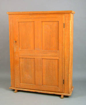 Pennsylvania painted wall cupboard ca 1800