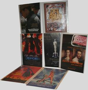 010238 AUTOGRAPHED MOVIE POSTERS 5 UNSIGNED 12 PCS