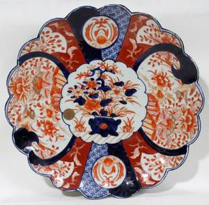 112244 JAPANESE PORCELAIN IMARI CHARGER 19THC
