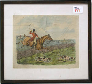 Three fox hunting prints to include 2 by H Alken