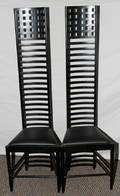 020285 MACINTOSH STYLE SIDE CHAIRS PAIR H 55 W 16