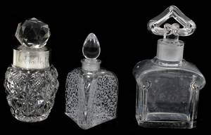 011336 BACCARAT CRYSTAL PERFUME BOTTLES 2 ANOTHER