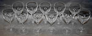 020320 CRYSTAL WINE GLASSES 11 H 7