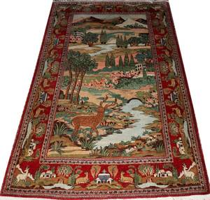 012343 PERSIAN HAND WOVEN WOOL CARPET 20TH C 6 10
