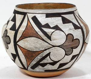 011378 ACOMA NATIVE AMERICAN INDIAN POTTERY POT