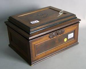 Victorian rosewood dresser box