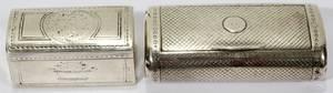 010361 ENGLISH STERLING  DUTCH 833 SILVER SNUFF BOX