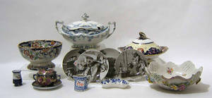 Misc group of pottery and porcelain to include 2 large covered tureens