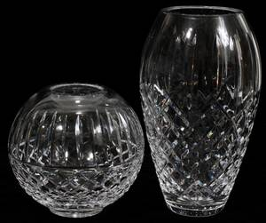 111437 WATERFORD CRYSTAL VASES TWO H 9 6
