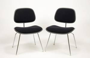 Pair of Eames for Herman Miller Upholstered Chairs