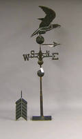 Spread winged eagle and arrow hollow body copper weathervane