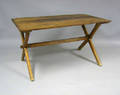 Pine sawbuck table