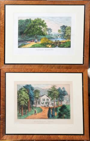112432 CURRIER  IVES LITHOGRAPHS TWO