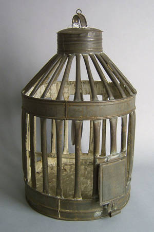 Tin birdcage 19th c