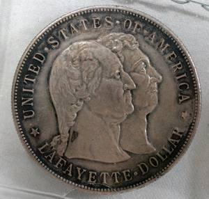 120405 LAFAYETTE 1 DOLLAR STERLING COIN UNCIRCULATED