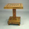 Mahogany and parquetry game table 19th c