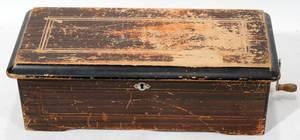 120390 SWISS STYLE MUSIC BOX H 5 W 7 L 16