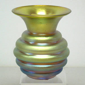 Tiffany favrille glass vase