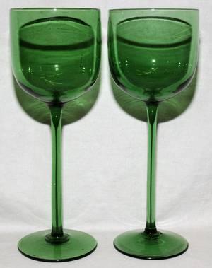 092457 VENETIAN WINE GLASSES TWELVE H 8 38