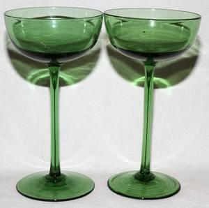 092456 HAND BLOWN VENETIAN CHAMPAGNE GLASSES TWELVE