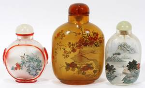 092436 CHINESE REVERSE PAINTED GLASS SNUFF BOTTLES 3