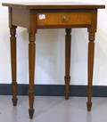 Sheraton cherry and maple one drawer stand