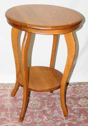121554 OAK ROUND OCCASIONAL TABLE H 29 DIA 20