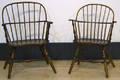 Two New England sackback windsor chairs