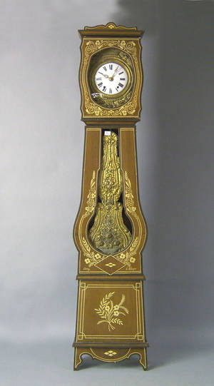French painted tall case clock