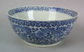 Chinese export blue and white punch bowl early 19th c