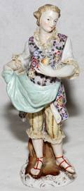 092464 GERMAN PORCELAIN STANDING FIGURE OF YOUNG MAN