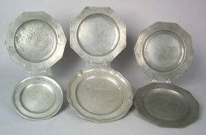 Set of 3 German pewter plates ca 17701810