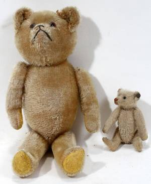 010497 STEIFF TEDDY BEAR AND ONE OTHER H 4  13