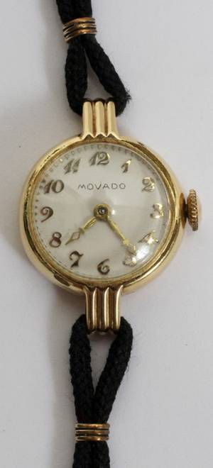 092511 MOVADO LADYS WRIST WATCH 14KT GOLD FILLED
