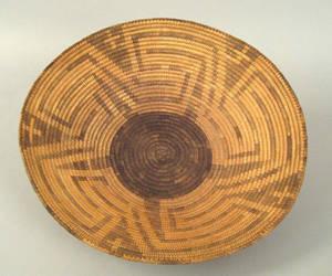 Pima coiled basketry bowl ca 1900