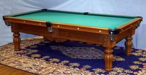 120035 MONARCH HOME VICTORIAN STYLE BILLIARDS TABLE
