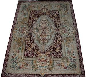 120030 PERSIAN HAND WOVEN WOOL CARPET MID 20TH C