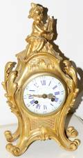 020036 JULIAN LEROY PARIS DORE BRONZE CLOCK H 13