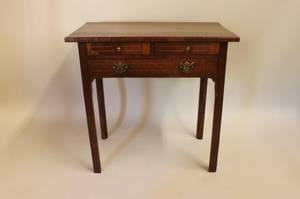 E 19th C English Walnut Dressing Table