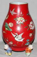 010009 MODERN CHINESE PORCELAIN FOOTED VASE