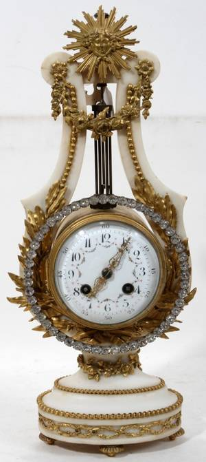 101004 FRENCH BRONZEMOUNTED MARBLE MANTEL CLOCK